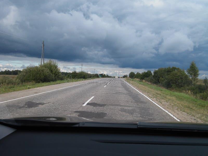 Russische weg stock foto's