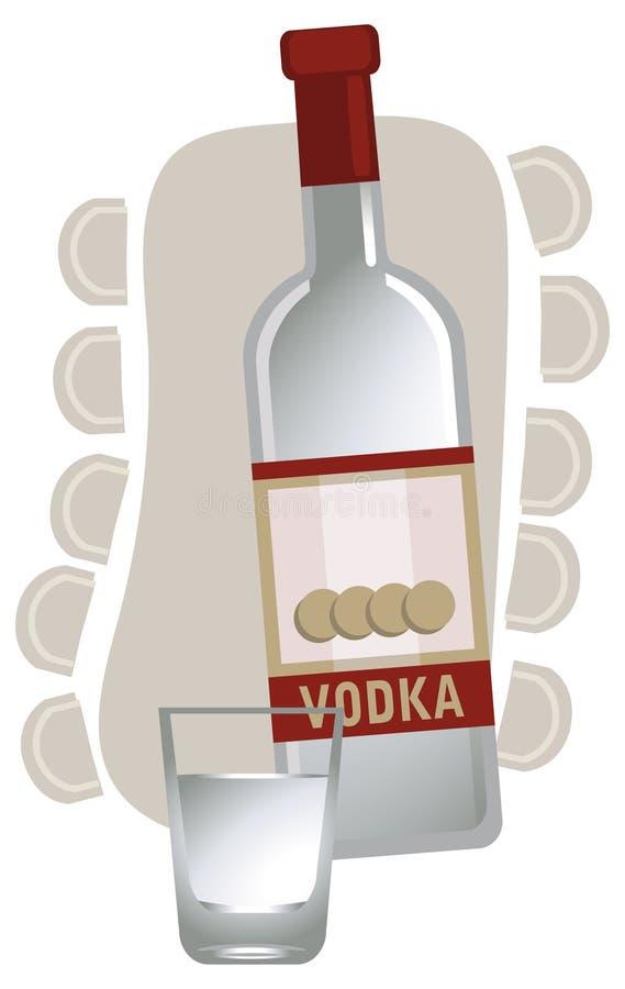 Russische Wodka stock illustratie