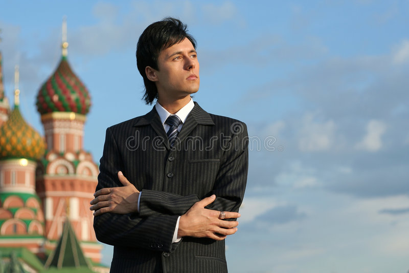 Russische zakenman stock afbeelding