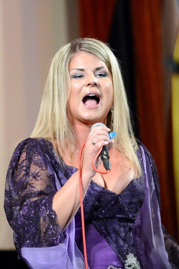 Russische zanger Natalia Nate royalty-vrije stock afbeeldingen