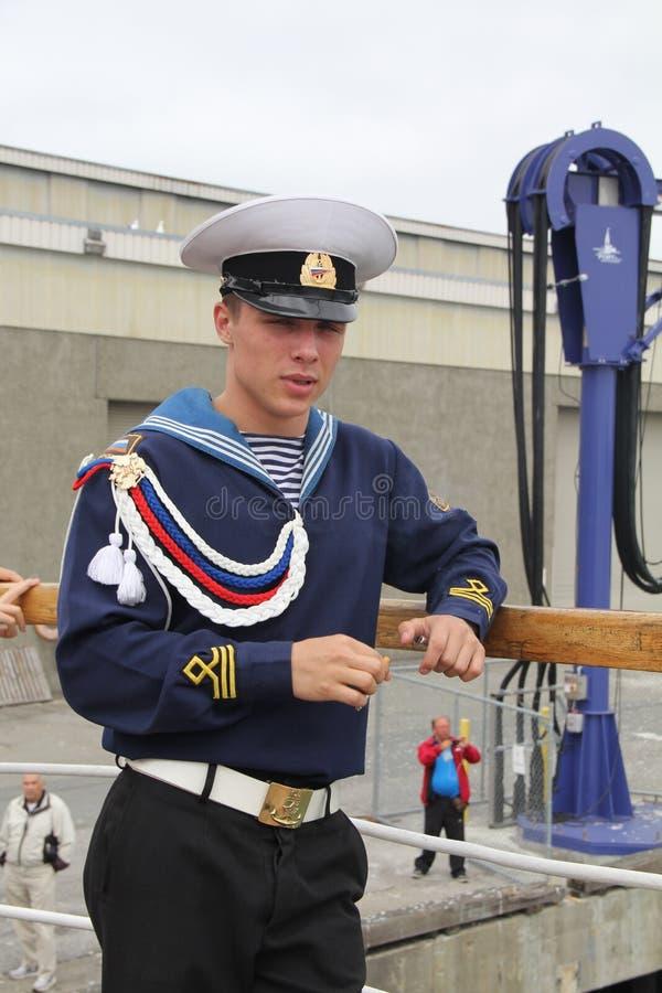 Russische Zeeman van Fregat Pallada stock fotografie