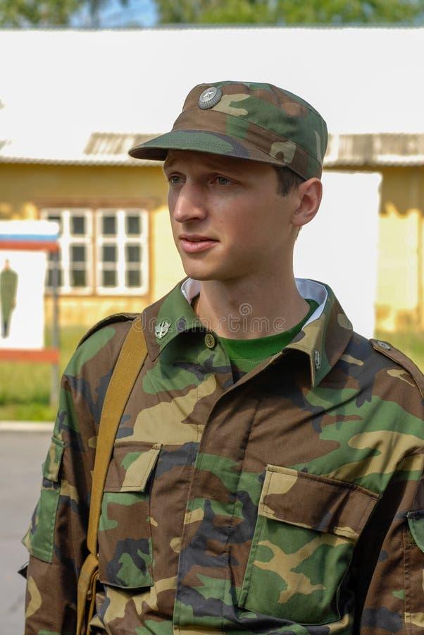 Russischer Armeesoldat stockfoto