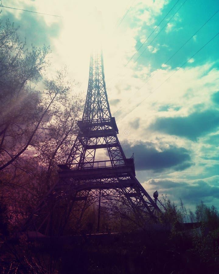 Russischer Eiffelturm stockfotos