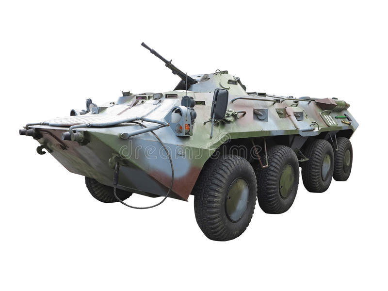 Russischer fahrbarer Mannschaftstransportwagen des gepanzerten Fahrzeugs der Armee BTR-82A stockfoto