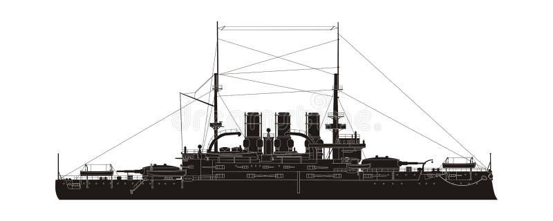 Russischer Marine-Kreuzer Potemkin lizenzfreie abbildung