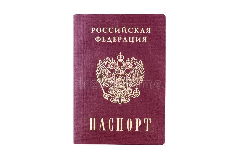 Russischer Pa? auf wei?em Hintergrund lizenzfreie stockfotografie