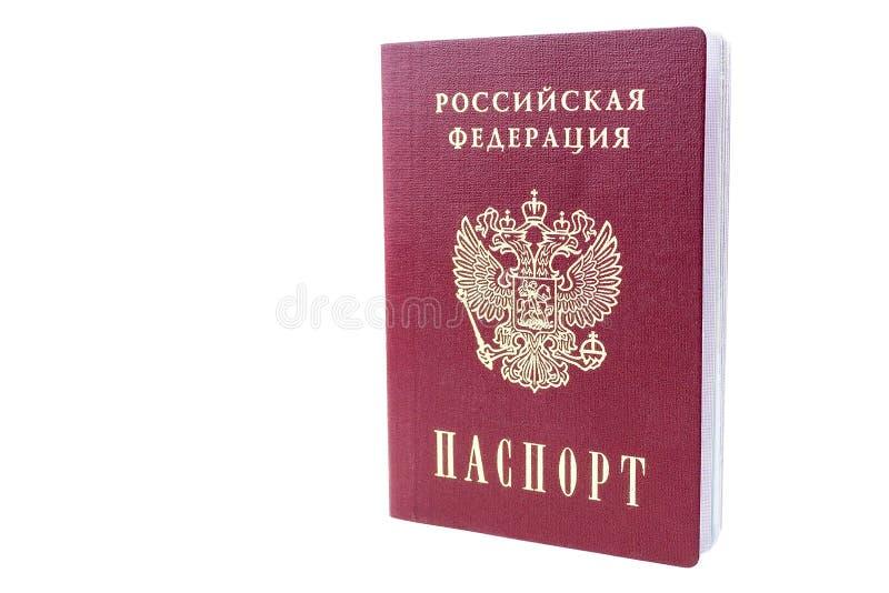 Russischer Pa? auf wei?em Hintergrund lizenzfreies stockbild