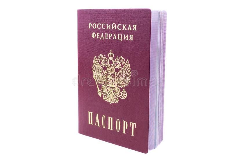 Russischer Pa? auf wei?em Hintergrund lizenzfreie stockfotos