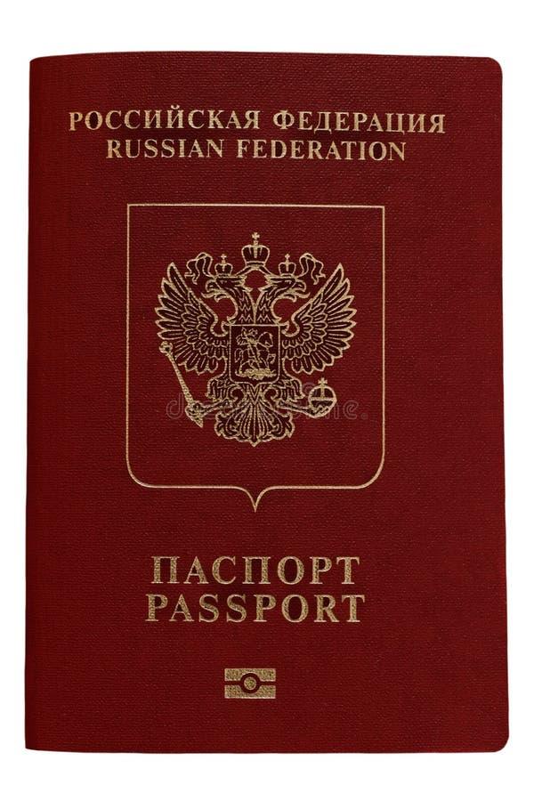 Russischer Pass Lokalisiert auf Weiß stockfoto