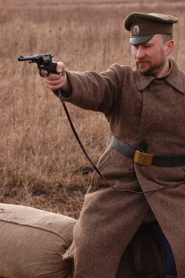 Russischer Soldat 1918 lizenzfreie stockfotos