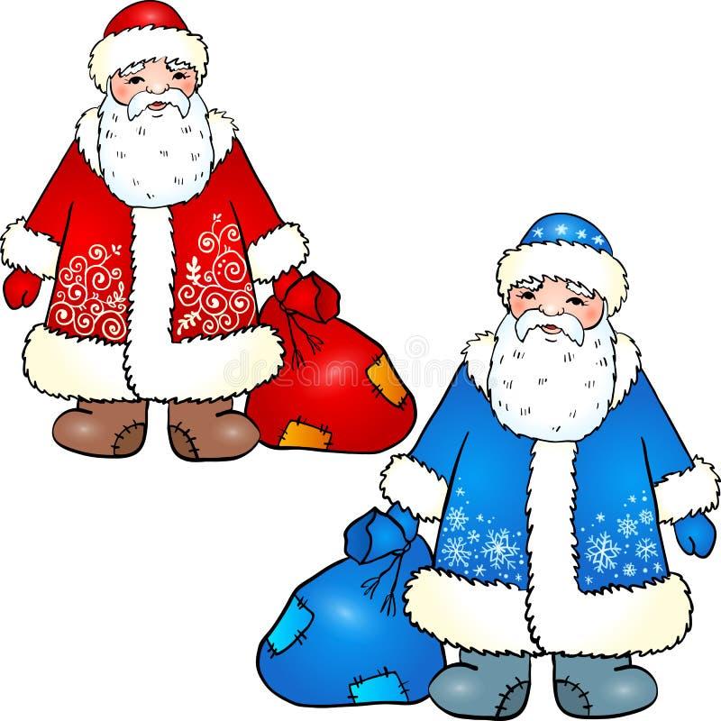 Russischer Weihnachtsmann - großväterlicher Frost lizenzfreie abbildung