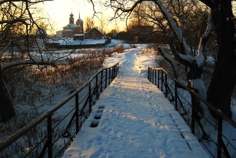 Russischer Winter stockbild