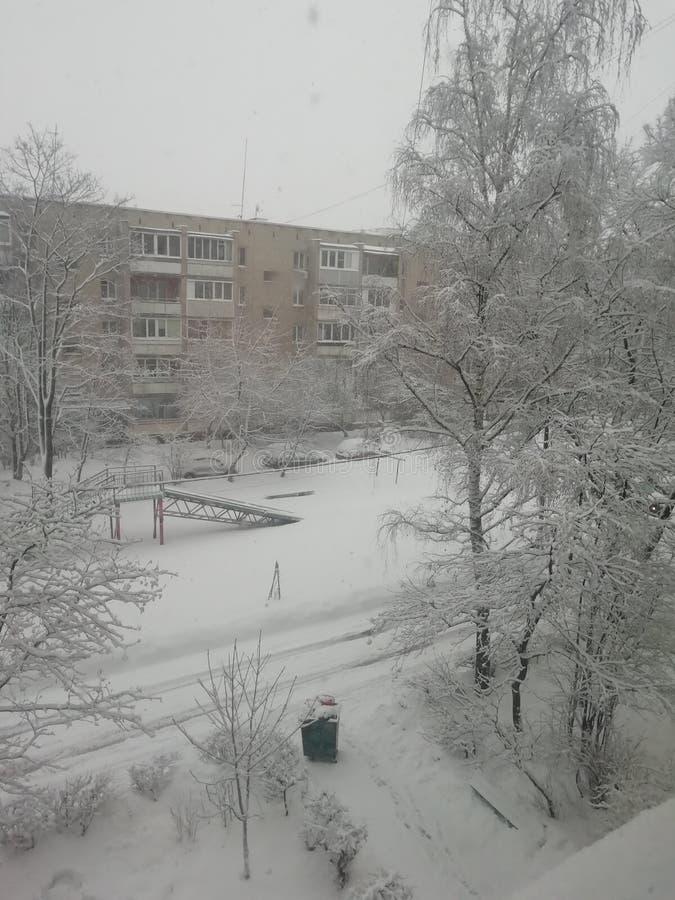 Russischer Winter, Wetter schön stockbilder