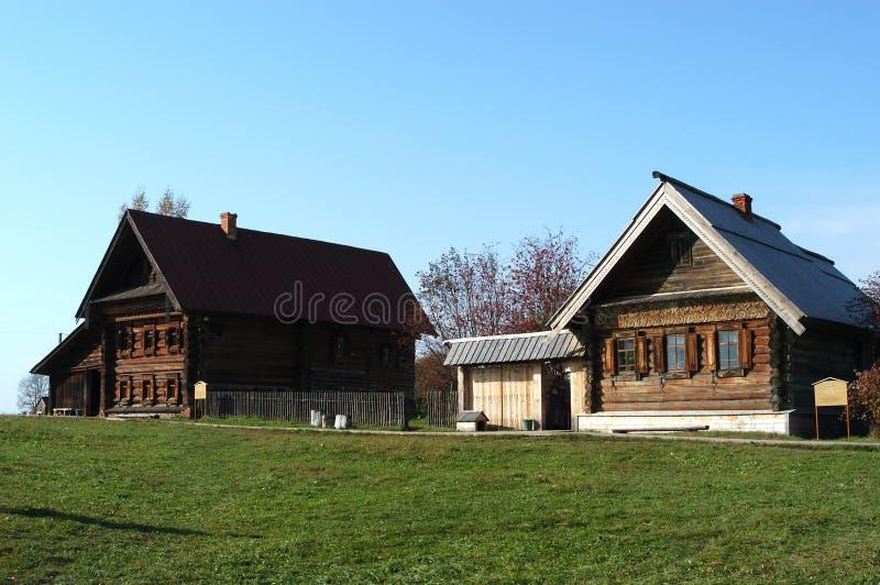 Russisches Dorf stockfoto