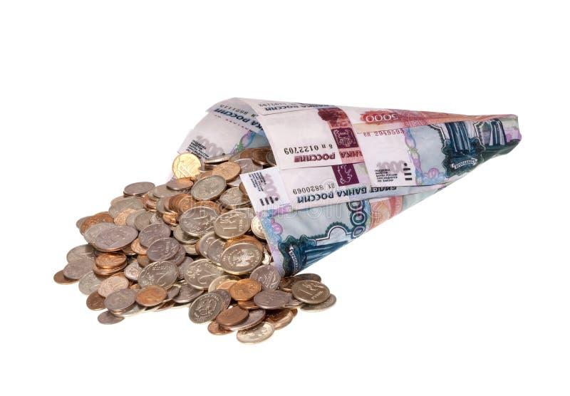Russisches Geld. stockfoto