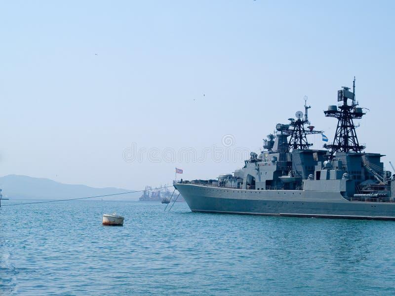 Russisches Linienschiff stockfotografie