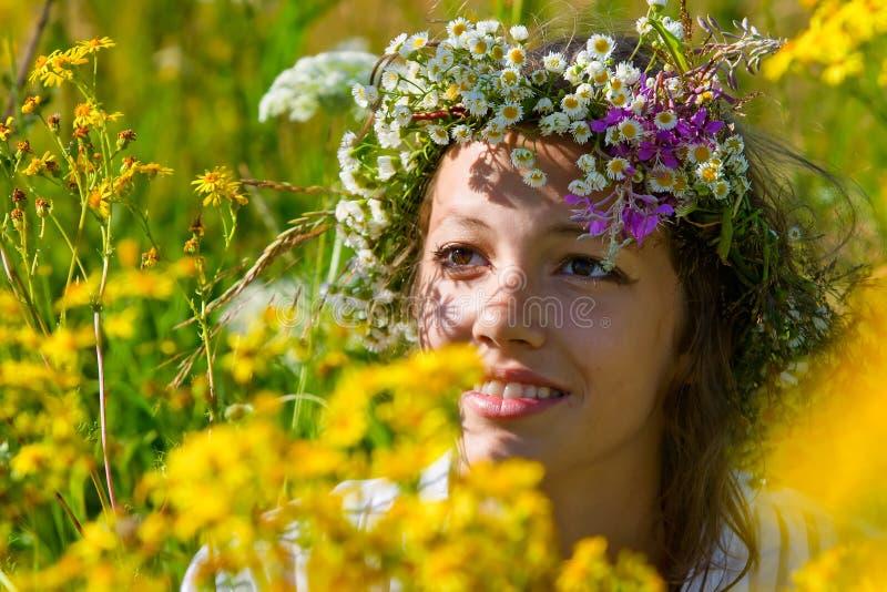 Russisches Mädchen stockfoto