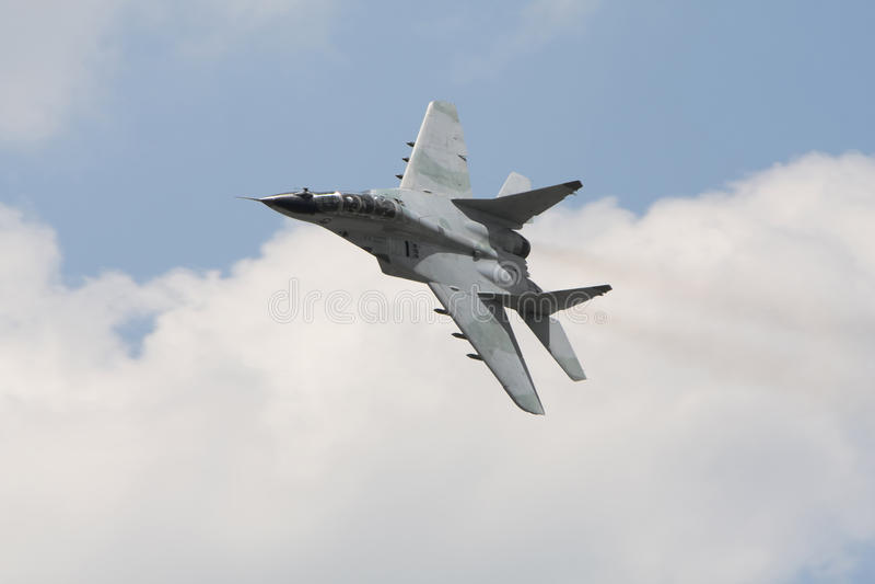 Russisches MilitärKampfflugzeug mig 29 lizenzfreies stockbild