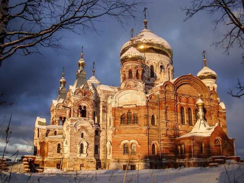 Russisches Orthodoxiekloster stockbild