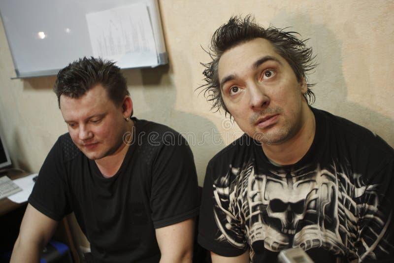 Russisches Punkband Korol, das ich schloß lizenzfreie stockbilder