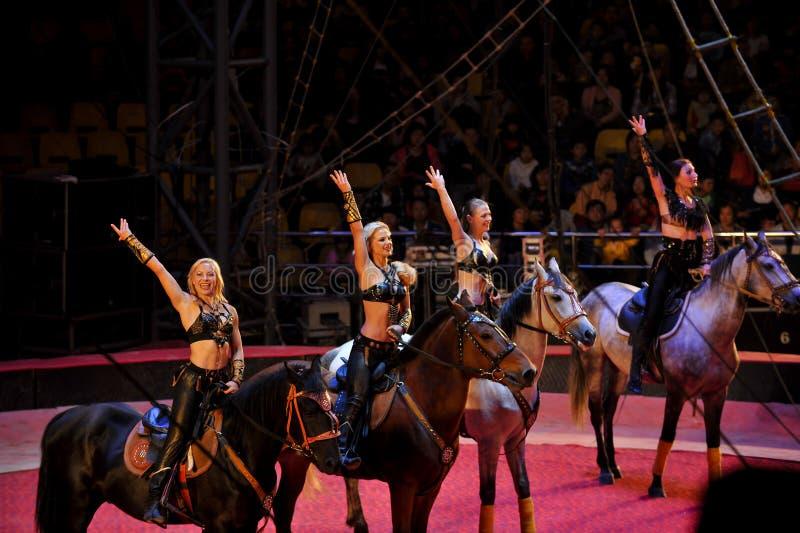 Russisches Zirkusmädchen stockfotos