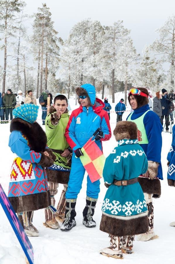 Russkinskie, Surgut, KhMAO-Ugra, Sibéria, Rússia, 2019 03 23 Feriado nacional de pastores da rena, caçadores, pescadores fotos de stock