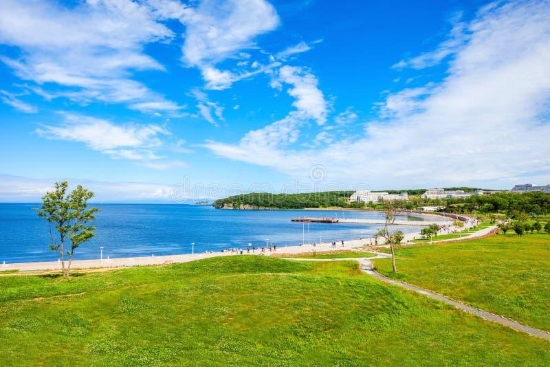 Russky wyspa blisko Vladivostok obraz stock