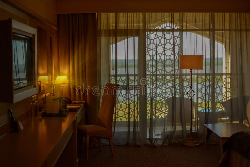 Russland, Bolgar - 8. Juni 2019 Kol Gali Resort Spa: Luxushotelraum lizenzfreie stockbilder