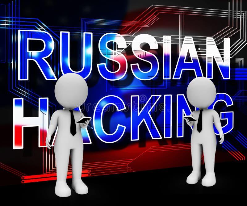 Russland, das amerikanische Illustration der Wahl-Daten-3d zerhackt stock abbildung