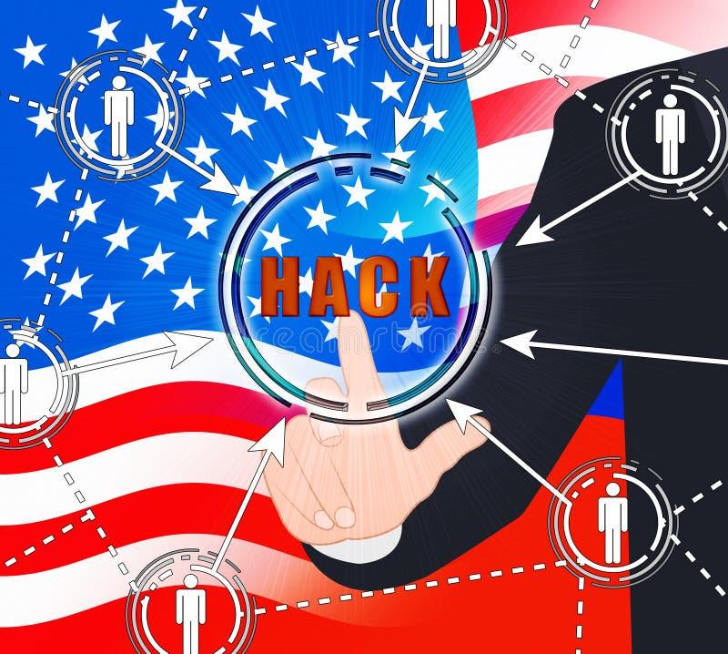Russland, das amerikanische Illustration der Wahl-Daten-3d zerhackt vektor abbildung