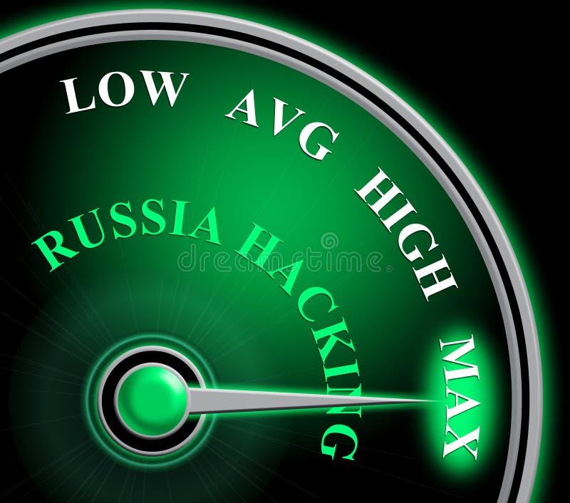 Russland, das Illustration des Meter-Show-maximale Angriffs-3d zerhackt lizenzfreie abbildung