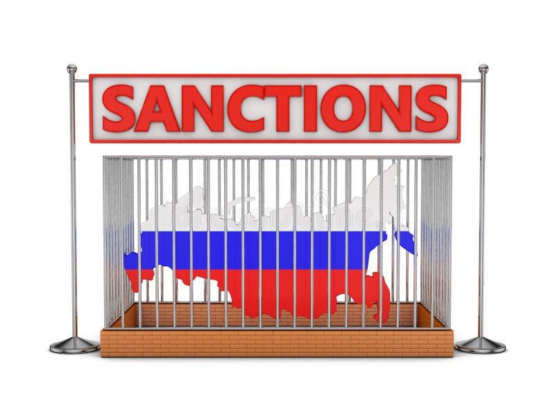 Russland in einer Zelle lizenzfreie abbildung