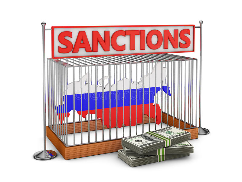 Russland in einer Zelle vektor abbildung