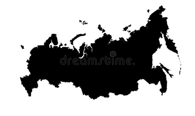 Russland-Karte stock abbildung