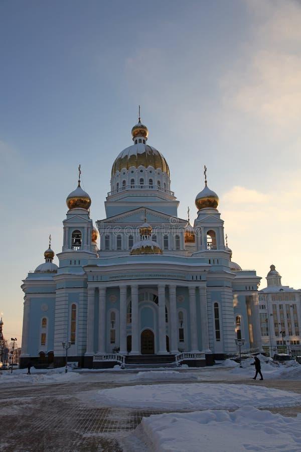 Russland Mordwinien-Republik, Kathedrale von St. Theodore Ushakov in Saransk stockbilder