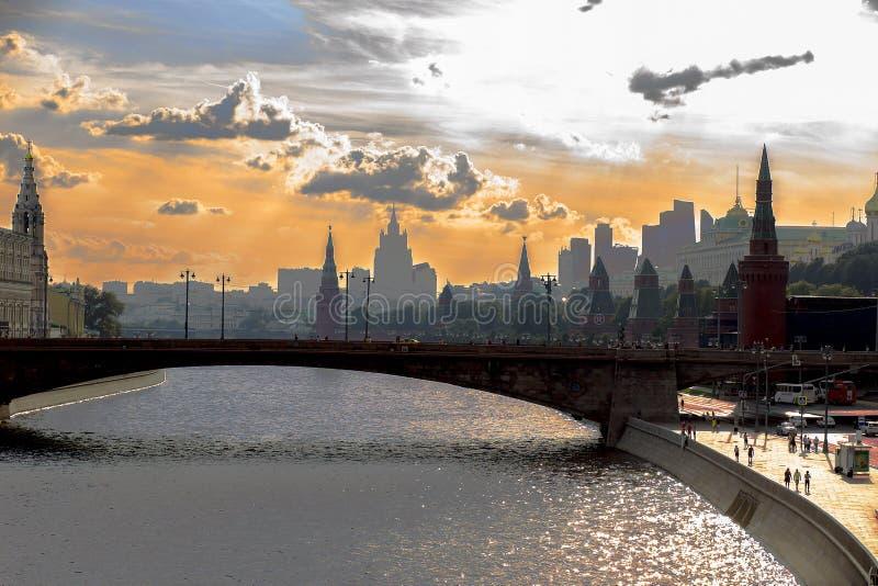 Russland, Moskau am 4. August 2018 Moskau-Flussstadtansicht, redaktionell stockbild