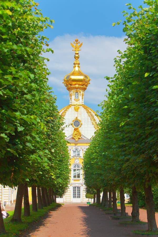 Russland, Petrodvorets-Peterhof Palast stockfotografie