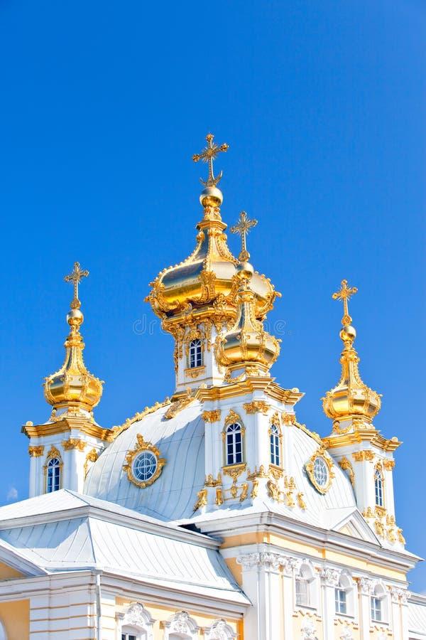 Russland, Petrodvorets-Peterhof Palast lizenzfreie stockfotografie