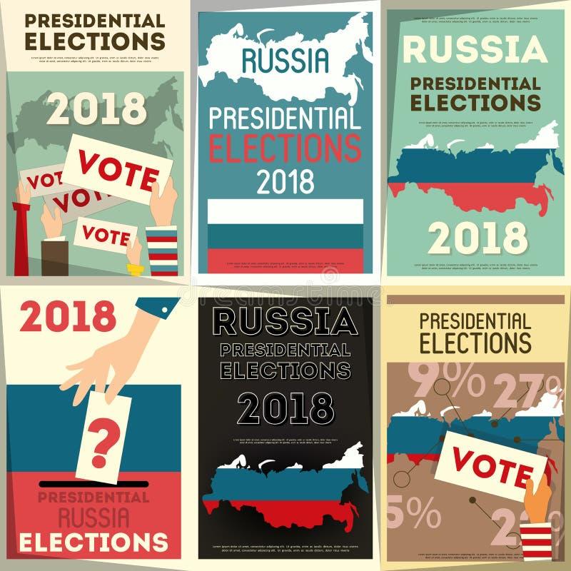 Russland-Präsidentschaftswahl vektor abbildung