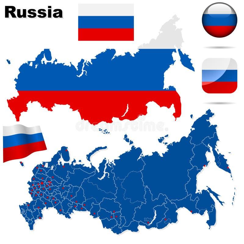 Russland-Set. lizenzfreie abbildung