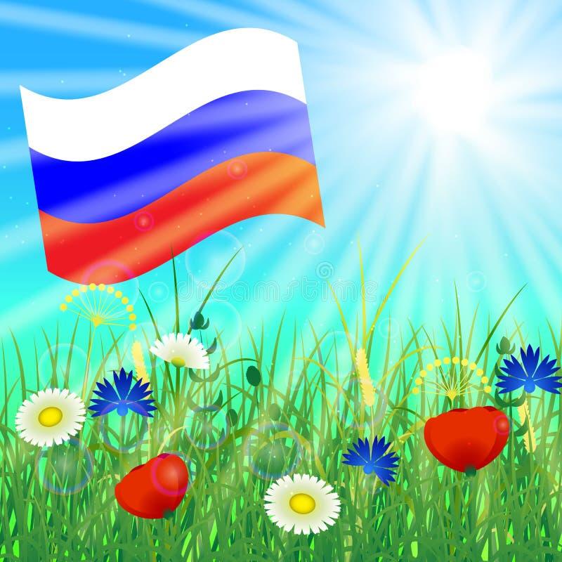 Russland-Tag Offizieller russischer Feiertag Russische Flagge vektor abbildung