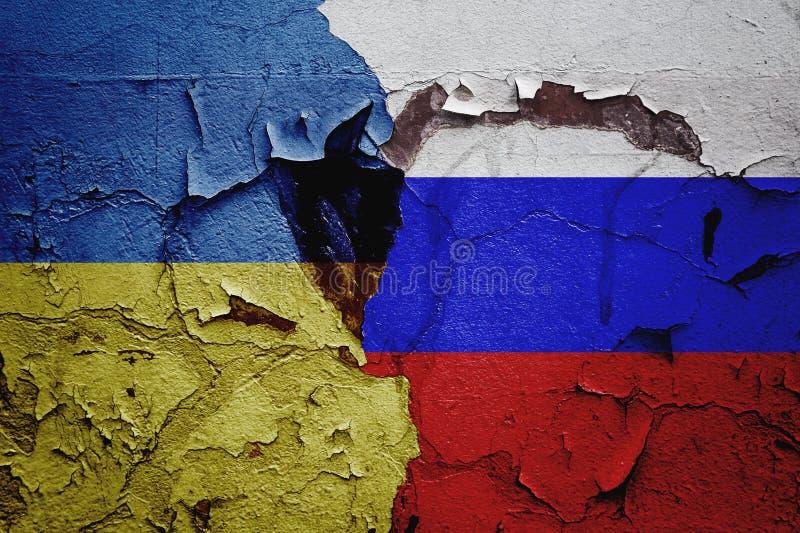 Russland und Ukraine, gegenseitige Beziehungen zwischen Ländern stockfoto
