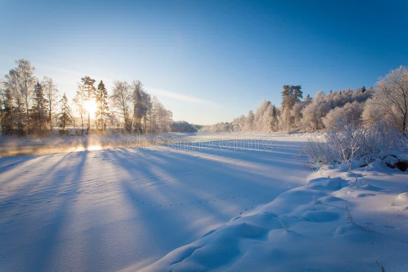 Russland, UralJanuary, Temperatur -33C stockbilder