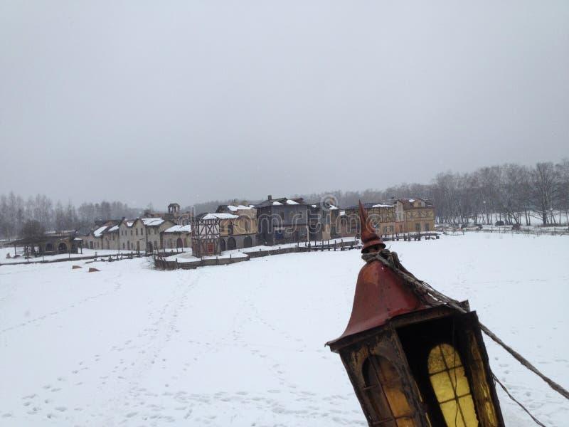 Russland, UralJanuary, Temperatur -33C Standort der Reihe Peligrim zum Hafen stockfoto