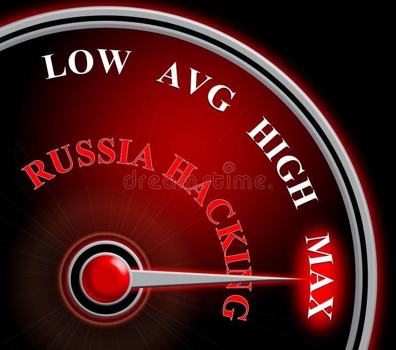 Russland, welches das Meter zeigt maximale Illustration des Angriffs-3d zerhackt vektor abbildung