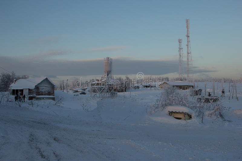 Russo norte, paisagem do inverno imagem de stock royalty free
