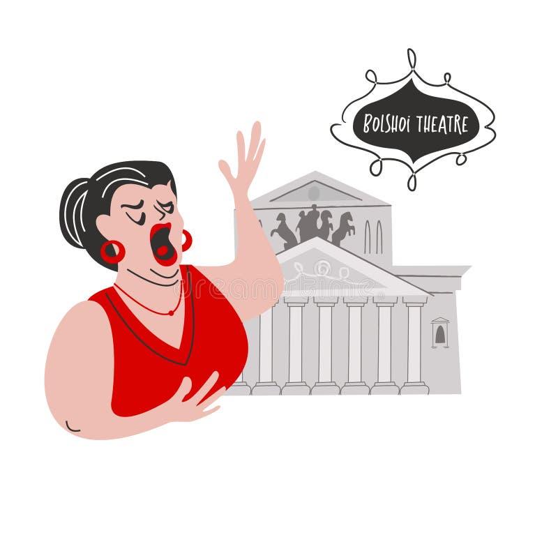 Russo Opera Ilustra??o do vetor ilustração royalty free