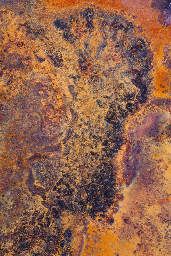 Rust abstract. Abstract pattern of rust forming on iron surface royalty free stock photos