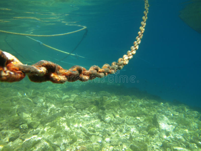 Download Rust chain stock photo. Image of chain, iron, underwater - 15980168