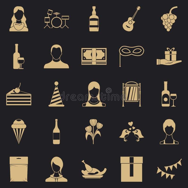 Rust in de geplaatste wandelgalerijpictogrammen, eenvoudige stijl stock illustratie